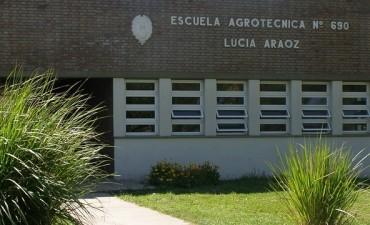 Robaron en la escuela Lucía Aráoz
