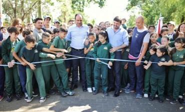 Corral inauguró una obra de pavimento articulado en el Norte de la Ciudad