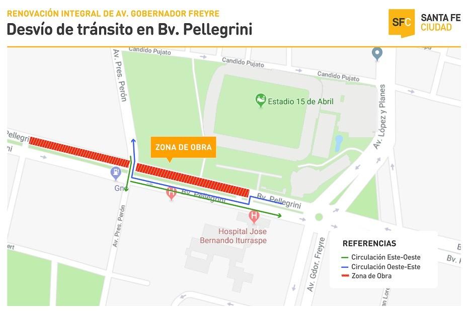 Operativo especial de tránsito por las obras de Renovación de Avenida Freyre