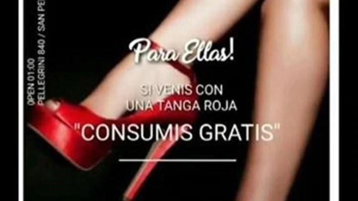 Ofrecían tragos gratis en un boliche a mujeres que asistan con tanga roja