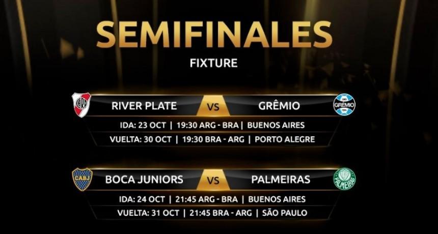 Se confirmaron los días y horarios de las semifinales de la Copa Libertadores