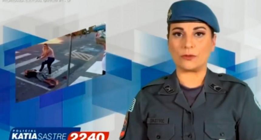 La policía que mató a tiros a un ladrón fue elegida como diputada en Brasil