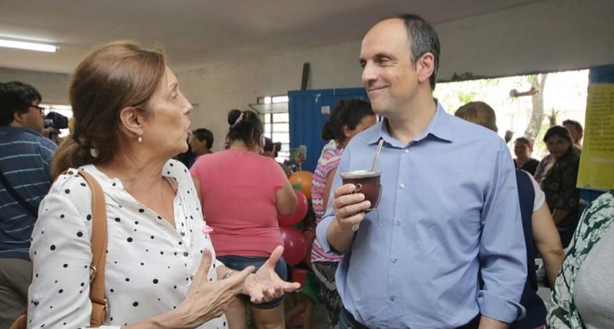 Corral participó de una jornada de alimentación saludable en el Solar del barrio San Agustín