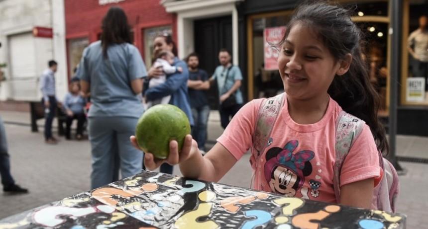 El Municipio realizó una campaña para promover el consumo de frutas y verduras