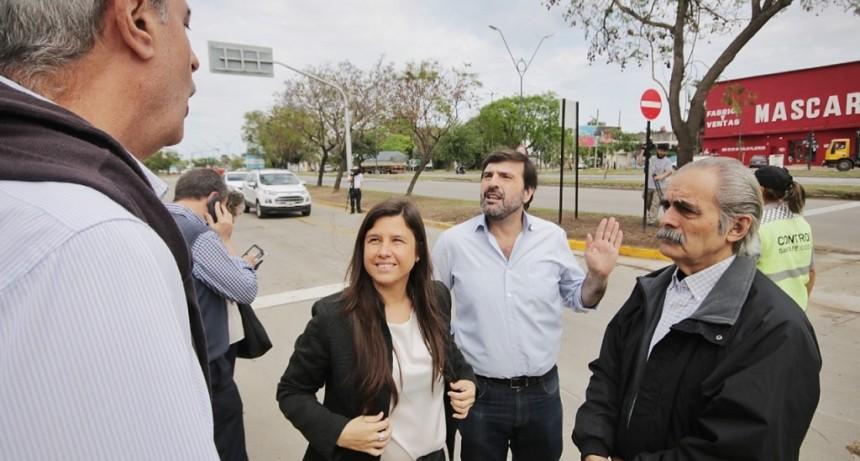Quedó habilitado el nuevo cruce de avenida Alem y calle Vélez Sarsfield