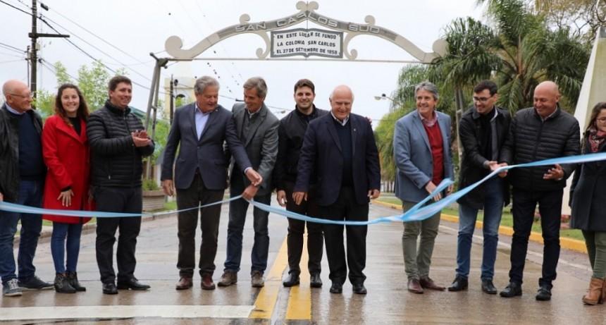 Lifschitz inauguró la repavimentación de la Ruta Provincial N° 6