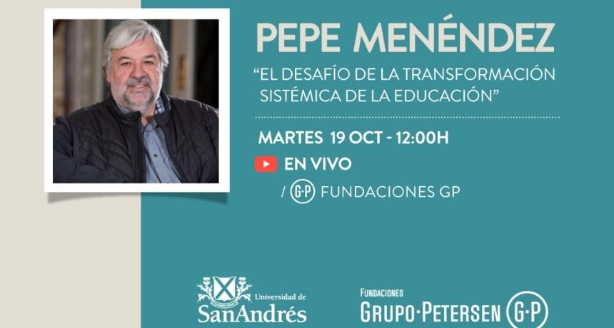 El reconocido pedagogo catalán Pepe Menéndez dará una conferencia gratuita para todo público invitado por la Fundación Banco Santa Fe