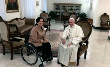 El papa Francisco recibió a la vicepresidenta Michetti