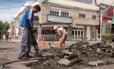 Programa de Reconstrucción: trabajos de bacheo previstos para el lunes