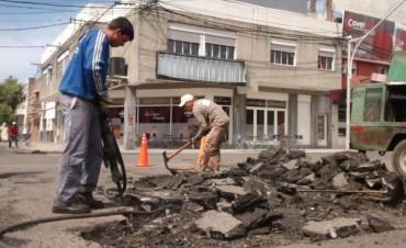 Programa de Reconstrucción: trabajos de bacheo previstos para el jueves