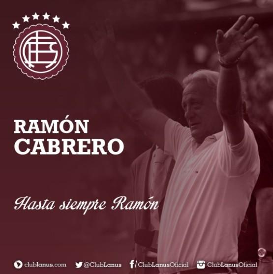 Falleció Ramón Cabrero