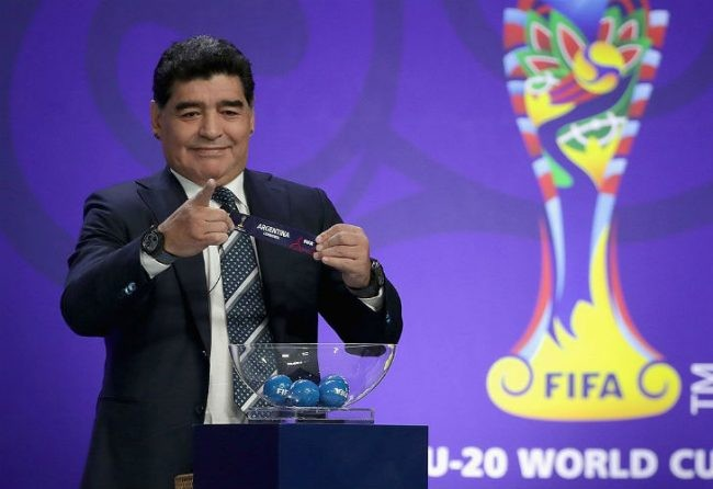 Maradona participará del sorteo del Mundial