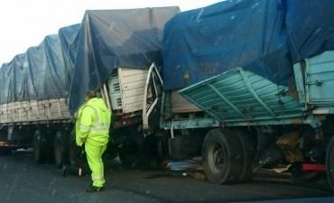 Accidente fatal en la autopista Rosario - Buenos Aires