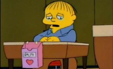 Dejó a su novio con memes de los Simpsons