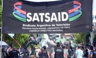 Paro y movilización del gremio de televisión SATSAID
