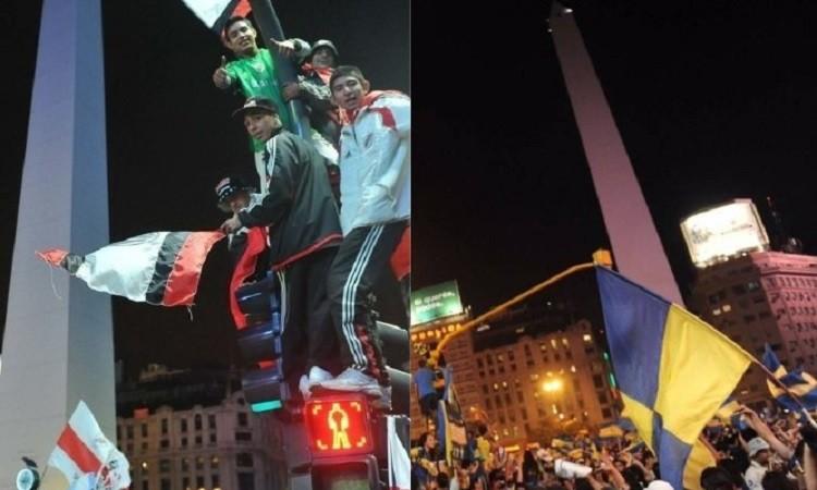 Buscan prohibir los festejos en el Obelisco tras la final de Copa Libertadores