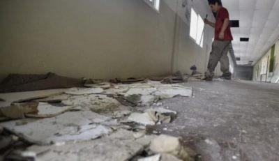Se cayó el cielo raso de una escuela de Córdoba por las intensas lluvias