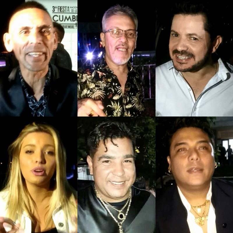 Los saludos de los protagonistas de la Fiesta de la Cumbia Santafesina