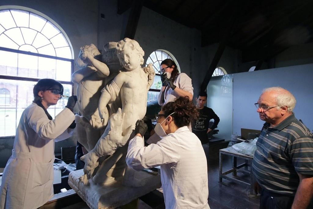 Fuente de los Niños Cazadores: el proceso de restauración se podrá ver en el MMAV