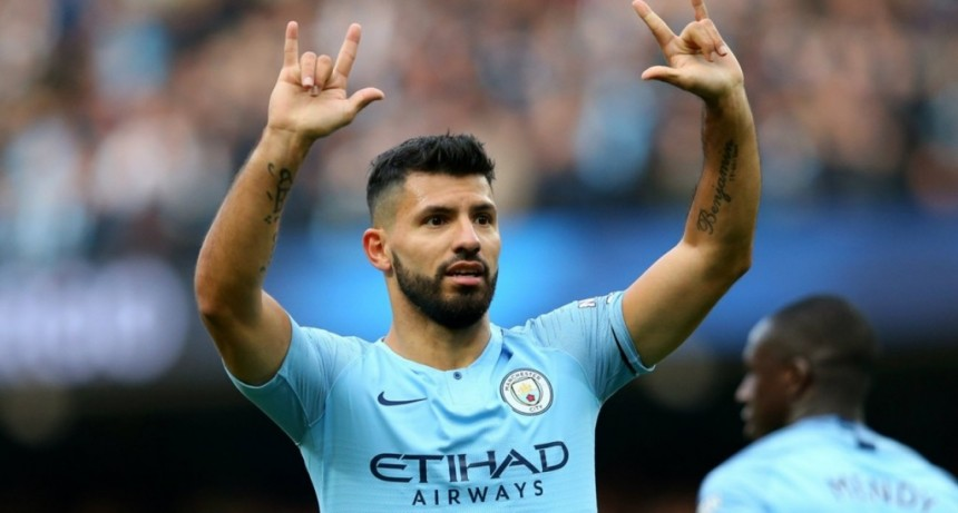 Agüero anotó su gol 150 en la Premier League