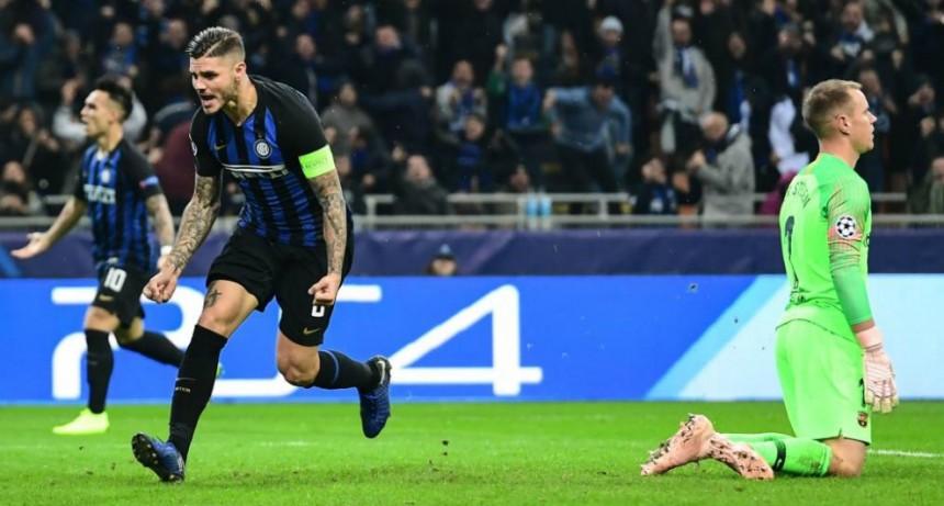 Icardi salvó al Inter, que igualó con el Barcelona