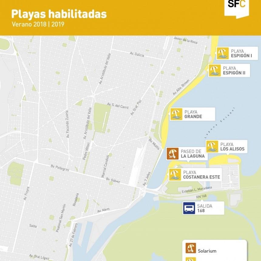 Con sus flamantes paradores, este jueves se inaugura la temporada de playas en la Ciudad