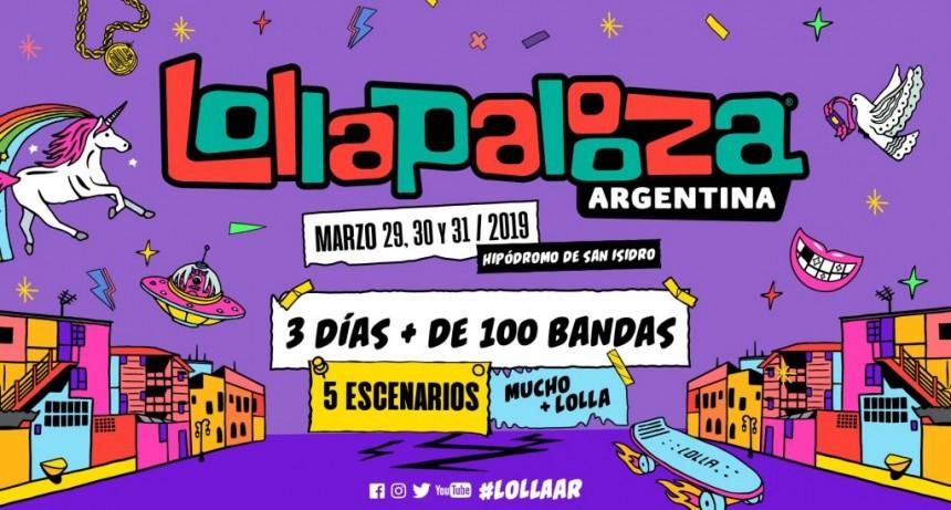 Se conoció el lineup del Lollapalooza Argentina 2019