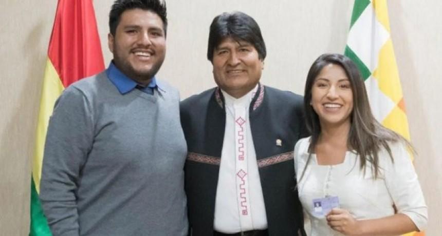 Los hijos de Evo Morales llegaron a Argentina