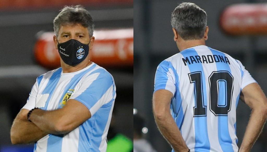 Maradona: DT de Gremio se puso la de Diego