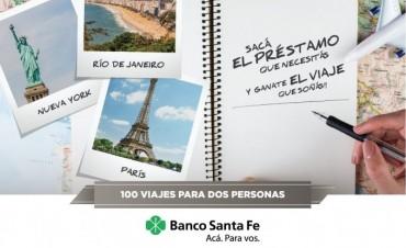 EL BANCO SANTA FE SORTEARÁ 100 VIAJES A MADRID, PARIS, NUEVA YORK Y RÍO DE JANEIRO