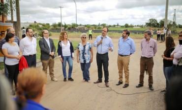 Se inauguró el desagüe Callejón Funes