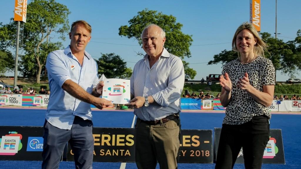 Lifschitz presenció la final de la edición 2018 de la Copa Santa Fe Hockey