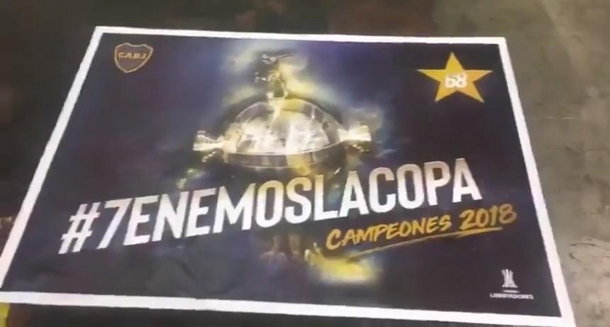Así se imprimieron los afiches de Boca campeón
