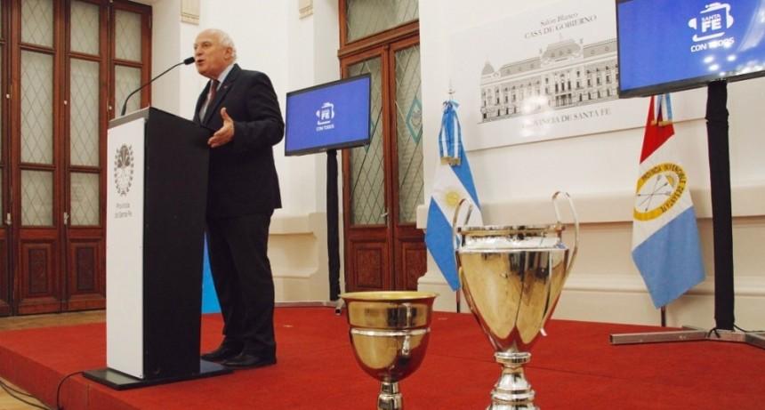 Lifschitz recibió a los equipos campeones de la Copa Santa Fe 2018