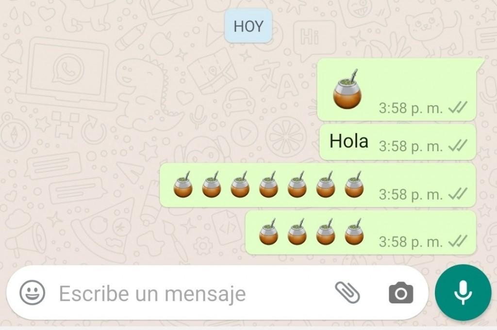 Llegó el emoji del mate a Whatsapp