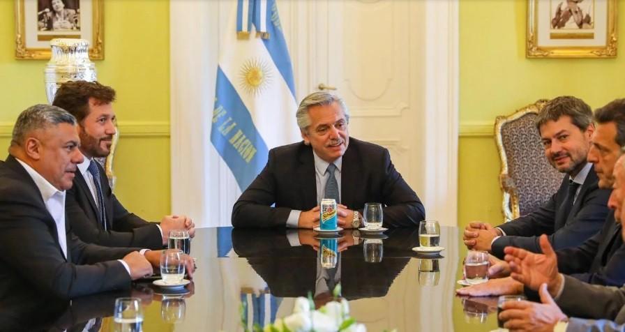 Alberto Fernández se reunió con Claudio Tapia y Alejandro Domínguez