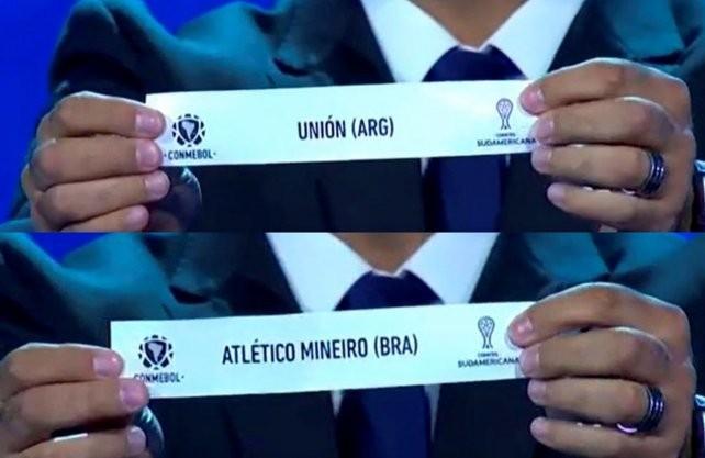 Unión se enfrentará con Atlético Mineiro en la Copa Sudamericana