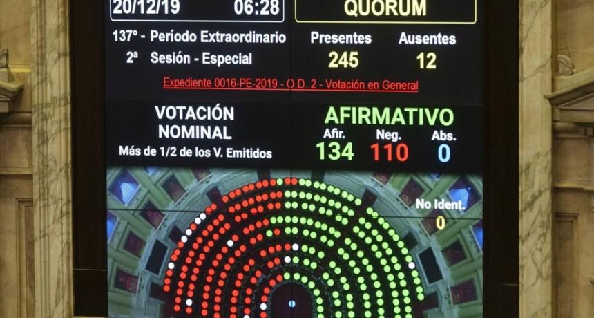 El Gobierno impuso su mayoría en el Senado y fue aprobada la ley de Emergencia Económica