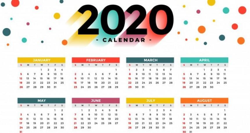 El calendario completo de feriados y días no laborables del 2020
